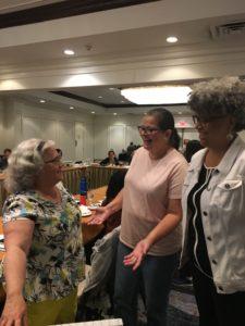 Peg Kinsell, Maria Rodriguez, and Debra Jennings