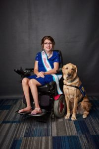 Jessica Gardner poses with her service dog, Ford at the 2019 Ms Wheelchair Pennsylvania competition. Picture credit to Alex Jones