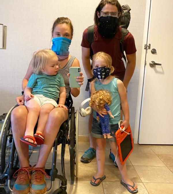 Feature: Alex Wegman discusses Wildfire displacement as a wheelchair using parent